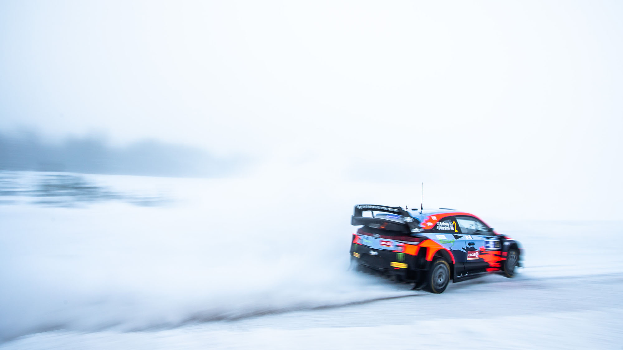 02 Solberg Oliver (nor), Johnston Aaron (irl), Hyundai 2C Competition, Hyundai i20 Coupé WRC, action during the 2021 Arctic Rally Finland, 2nd round of the 2021 FIA WRC, FIA World Rally Car Championship, from February 26 to 28, 2021 in Rovaniemi, Lapland, Finland - Photo Nikos Katikis / DPPI