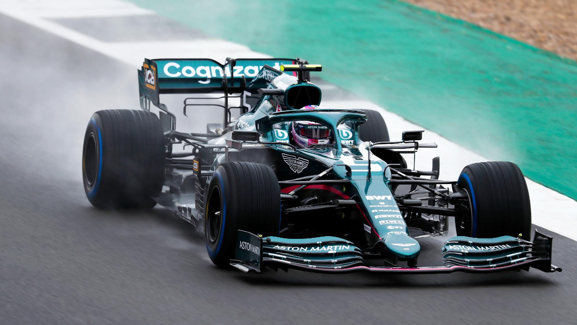 Sebastian Vettel, Aston Martin test 2021