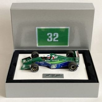 Product image for Michael Schumacher signed, 1:18 scale Jordan 191, boxed set.