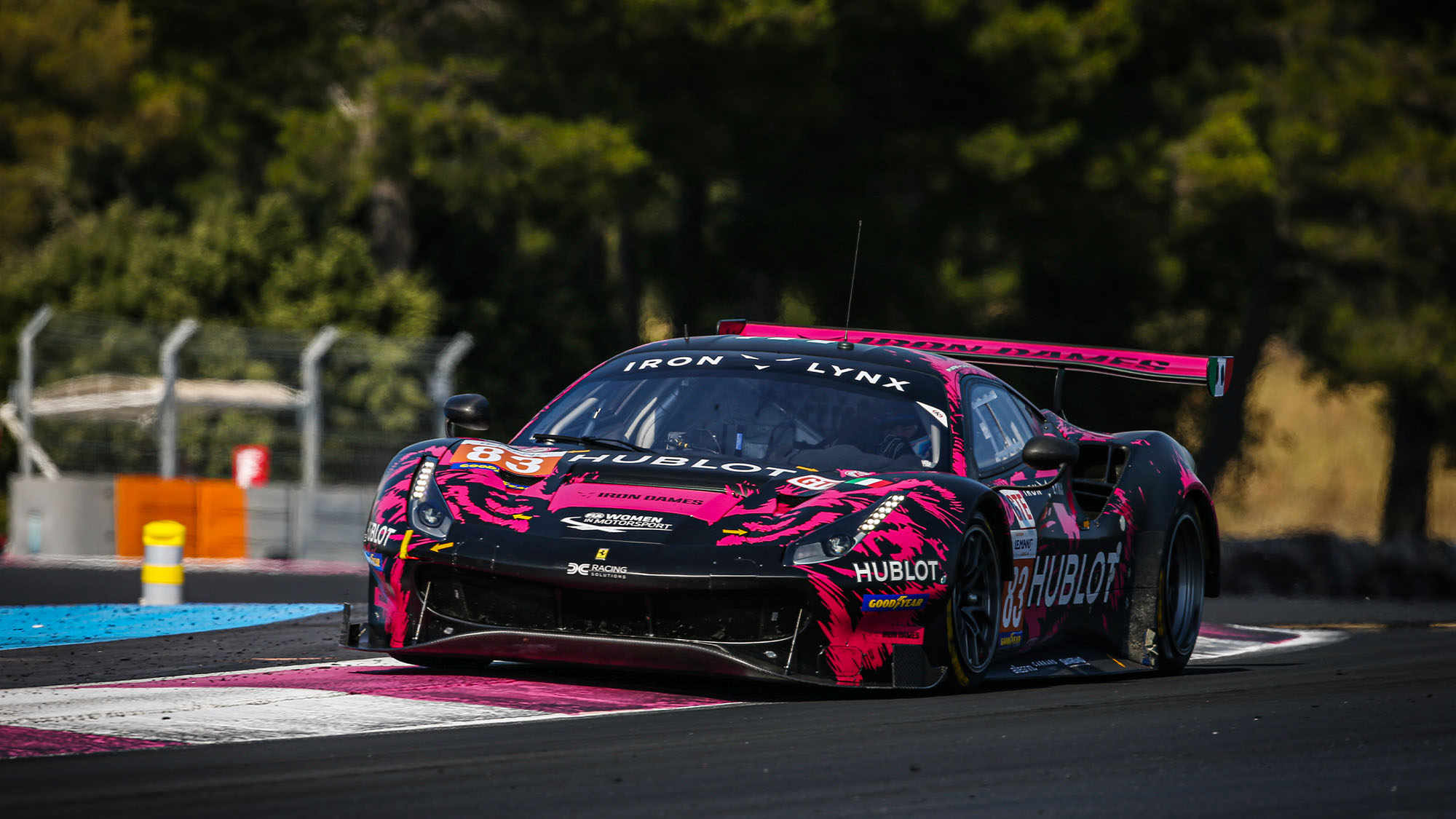 83 Gostner Manuel (ita), Gatting Michelle (dnk), Frey Rahel (che), Iron Lynx, Ferrari 488 GTE Evo, action during the 2020 European Le Mans Series official tests, from July 14 to 15, 2020 on the Circuit Paul Ricard , in Le Castellet, France - Photo Francois Flamand / DPPI