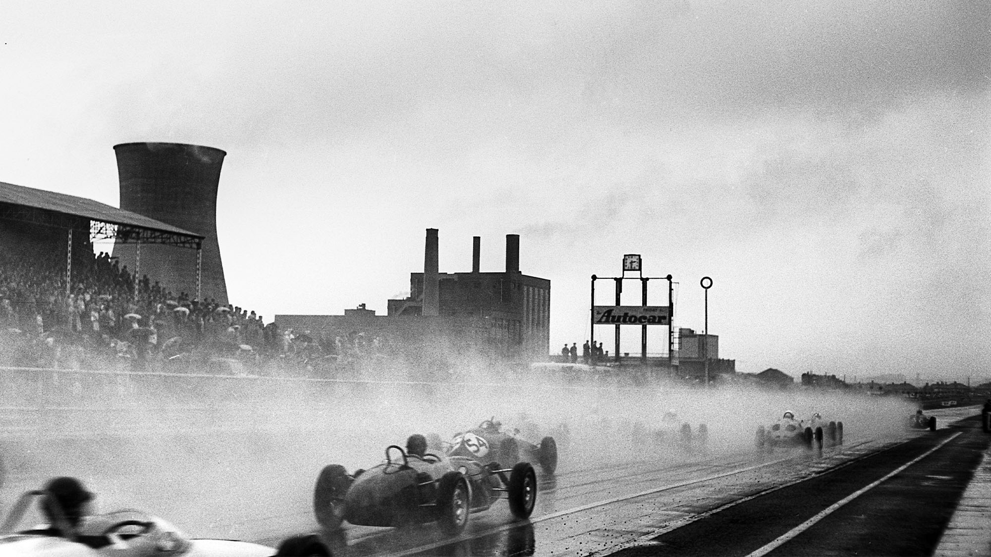 Jack Fairman, Keith Greene, Fergusson-Climax P99, Gilby-Climax, Grand Prix of Great Britain, Aintree, 15 July 1961. (Photo by Bernard Cahier/Getty Images)