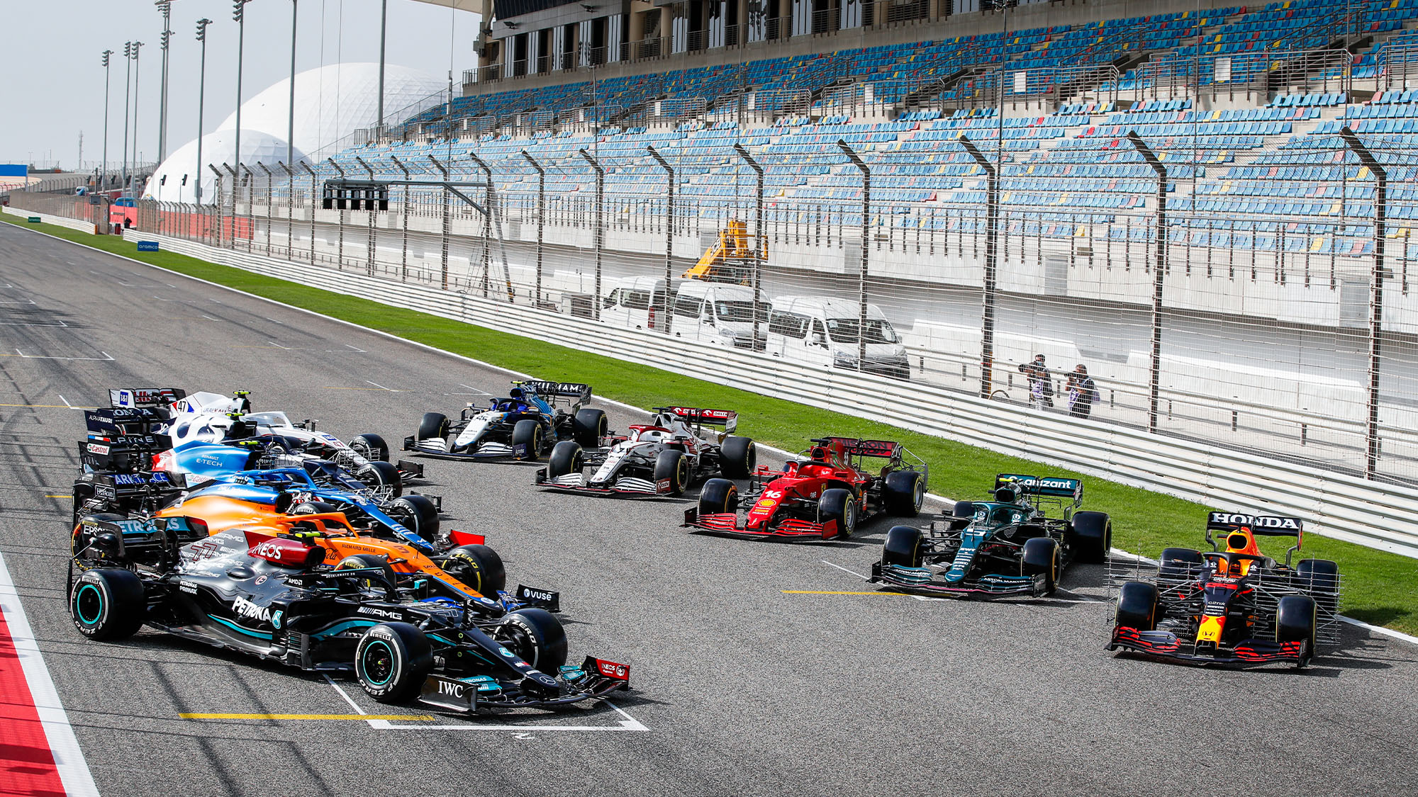 F1 testing 2021, Day 1: Cars revealed in full; Mercedes hits trouble; Red Bull on top