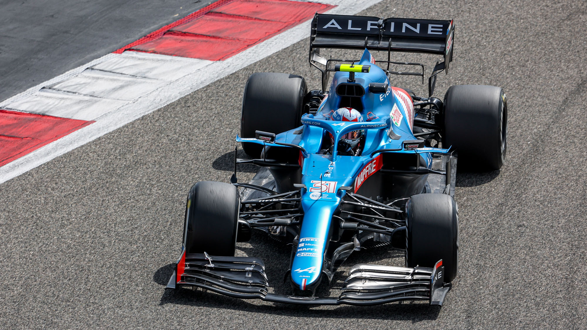 BAHRAIN, BAHRAIN - MARCH 13: Fernando Alonso of Spain driving the (14) Alpine A521 Renault during Day Two of F1 Testing at Bahrain International Circuit on March 13, 2021 in Bahrain, Bahrain. (Photo by Clive Mason/Getty Images)