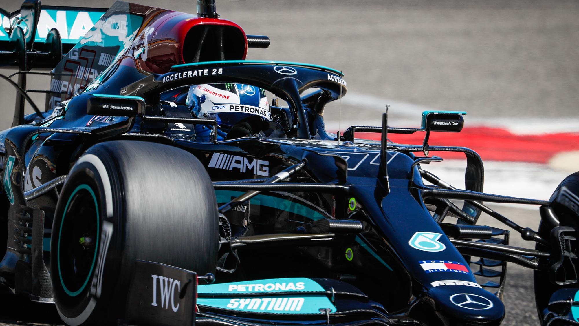 Valtteri Bottas 2021 Mercedes testing
