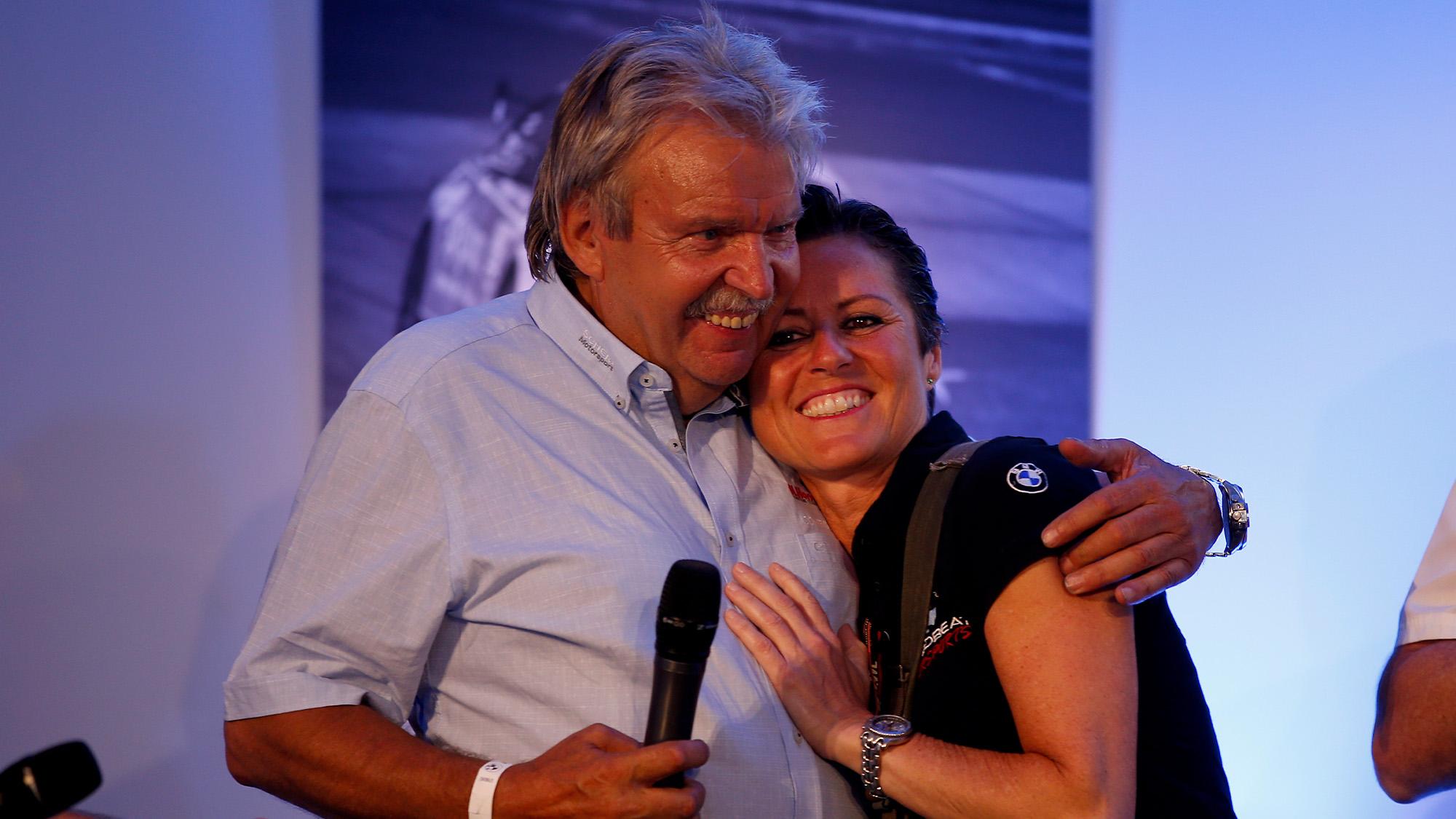 Sabine Schmitz with Johannes Scheid