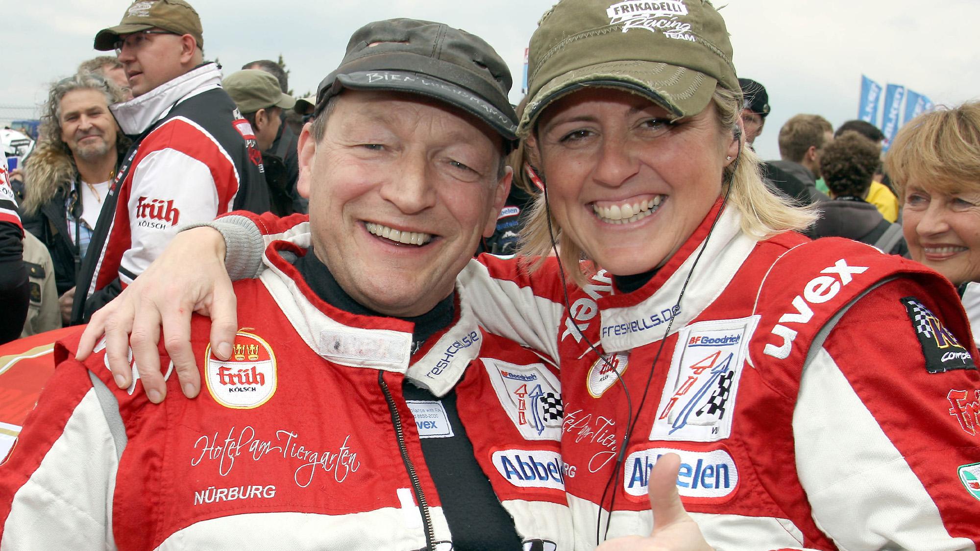Sabine Schmitz with Klaus Abbelen