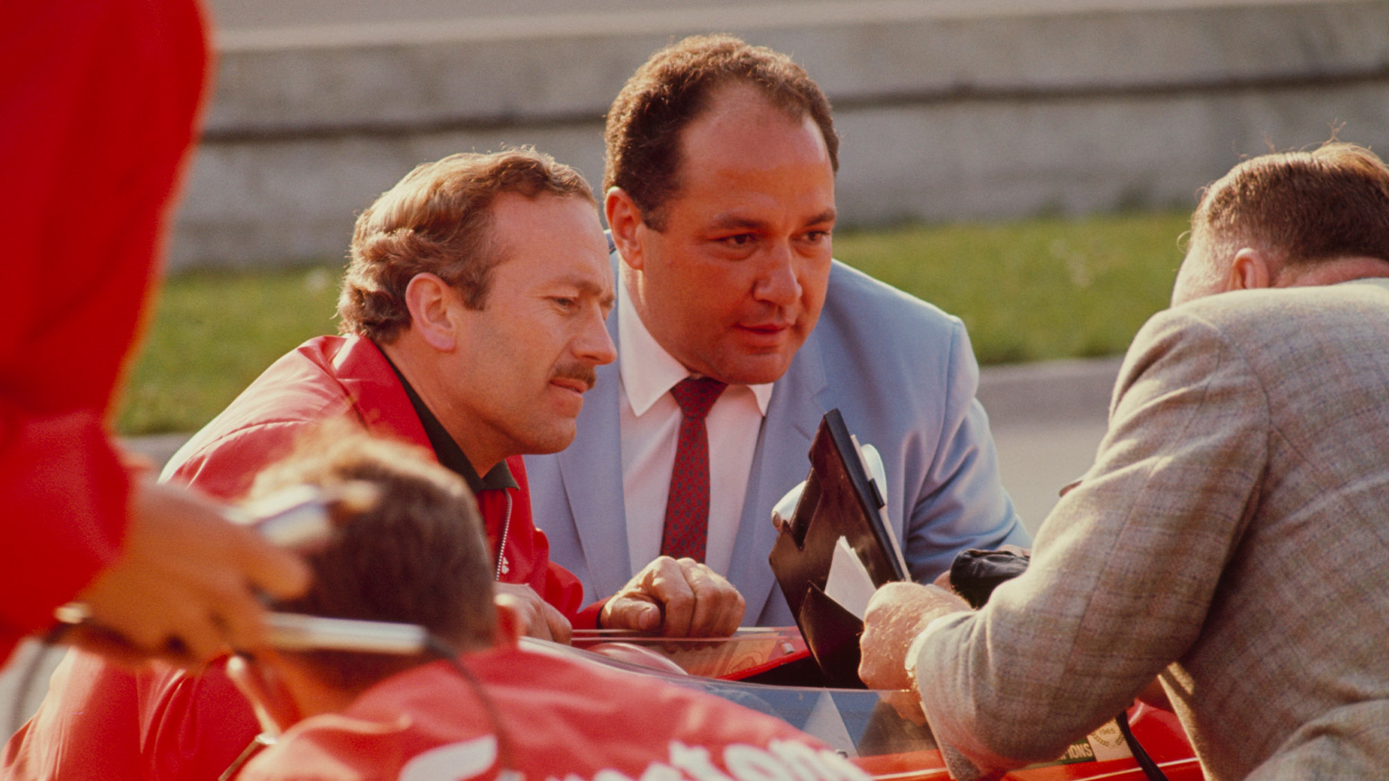 Andy Granatelli with Colin Chapman at the 1966 Indy 500