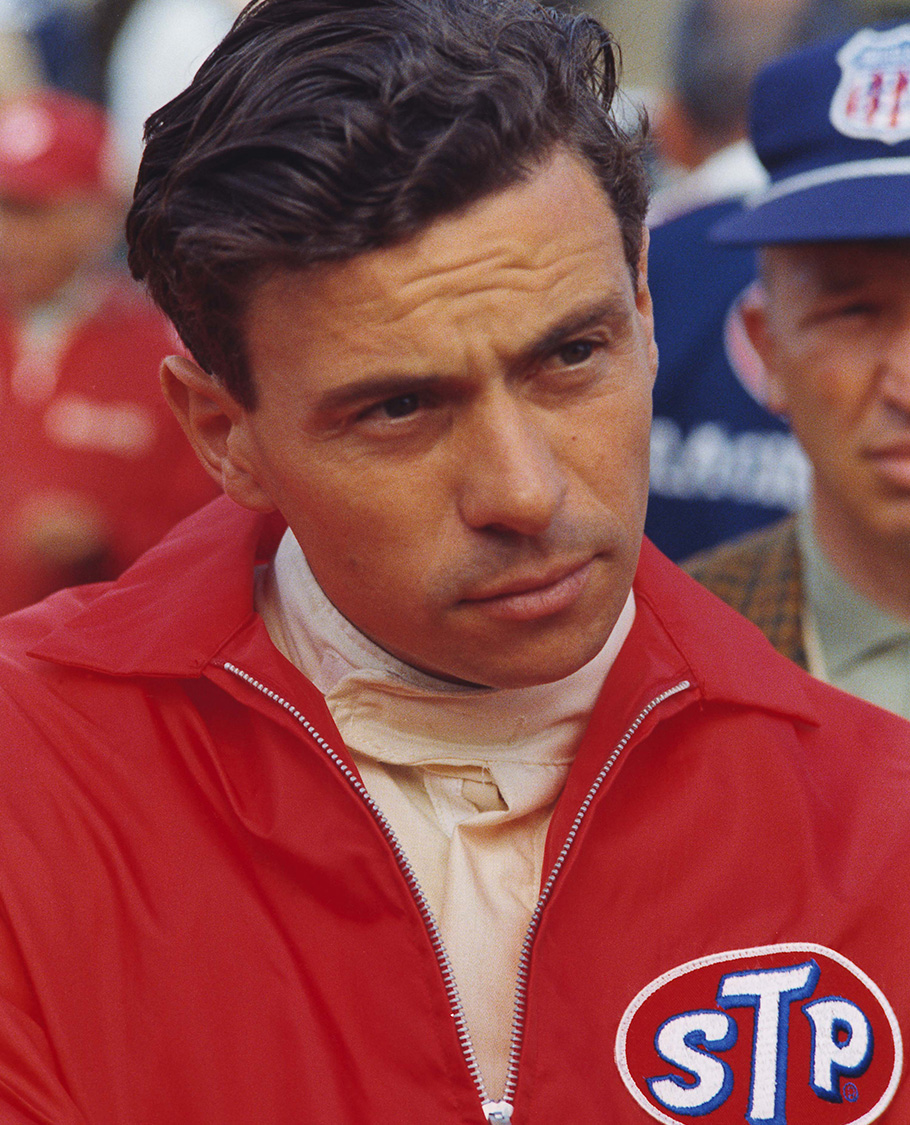 Jim Clark in STP jacket in the 1966 Indy 500