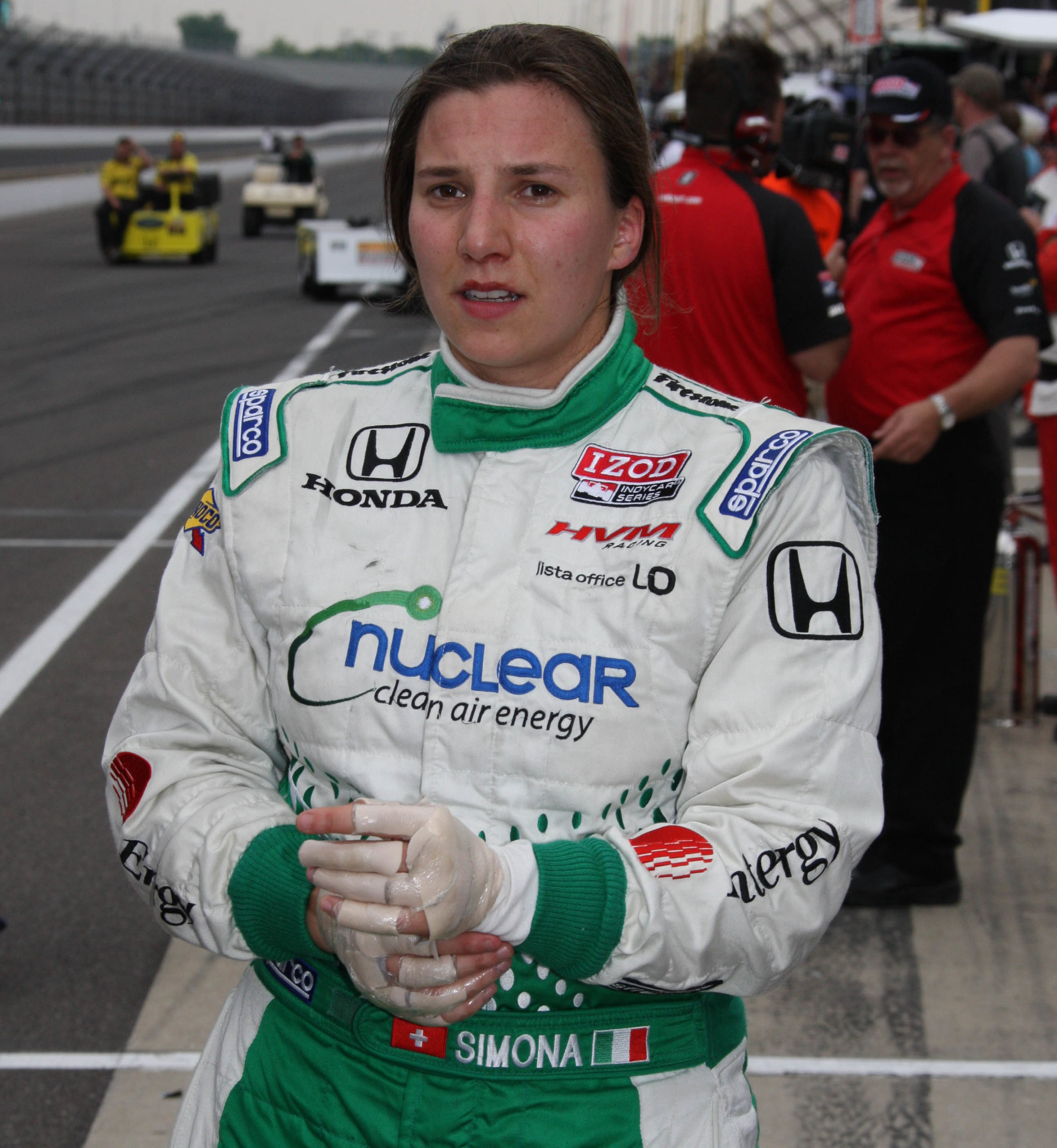 Simona de Silvestro at 2011 Indy qualifying