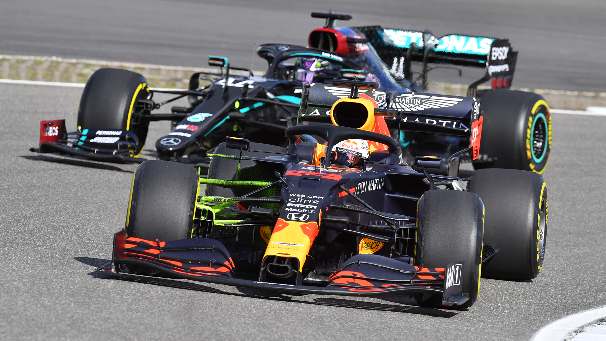 Max Verstappen ahead of Lewis Hamilton in 2020