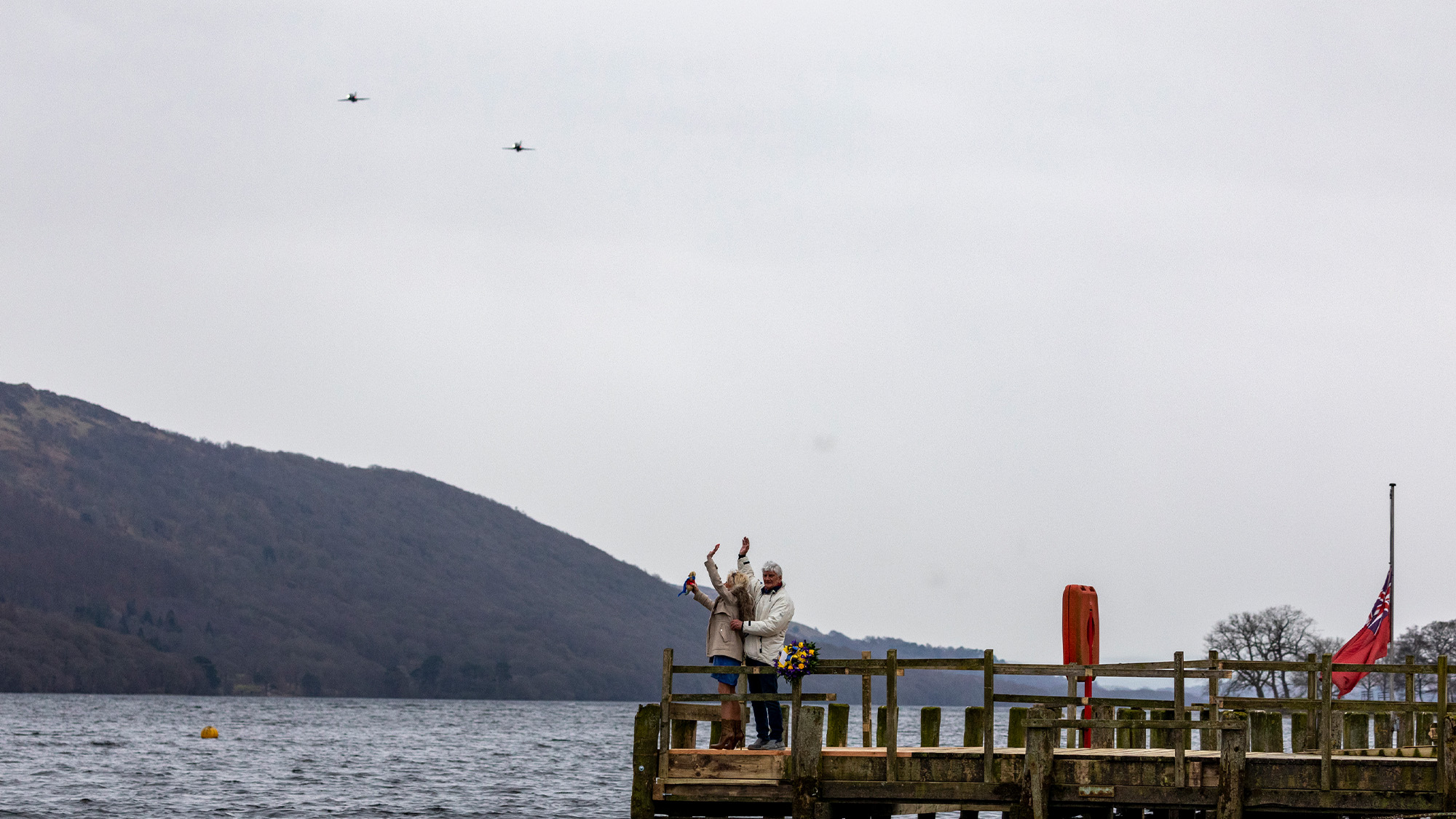 Donald Campbell RAF Tribute flight over Coniston Water