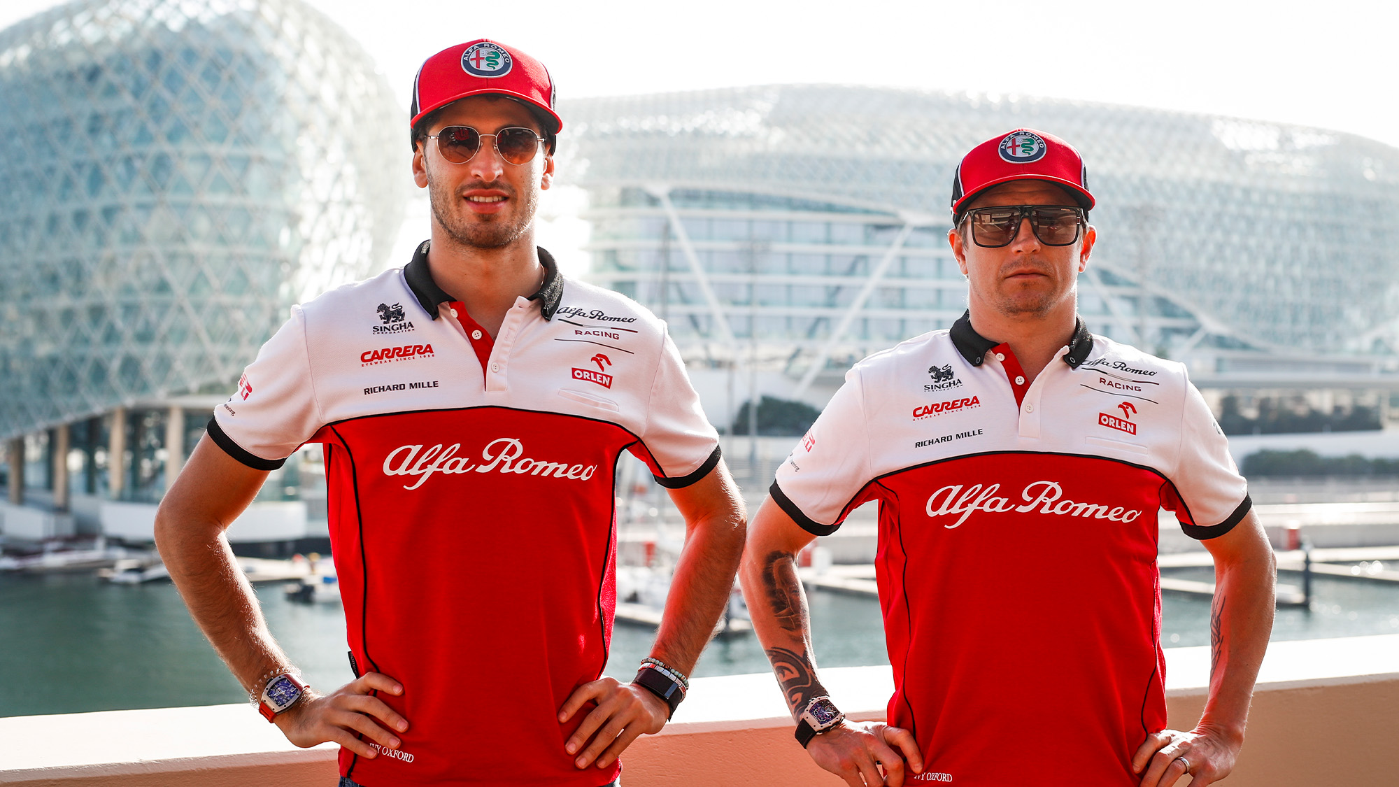 Antonio Giovinazzi and Kimi Raikkonen ahead of the 2021 F1 season