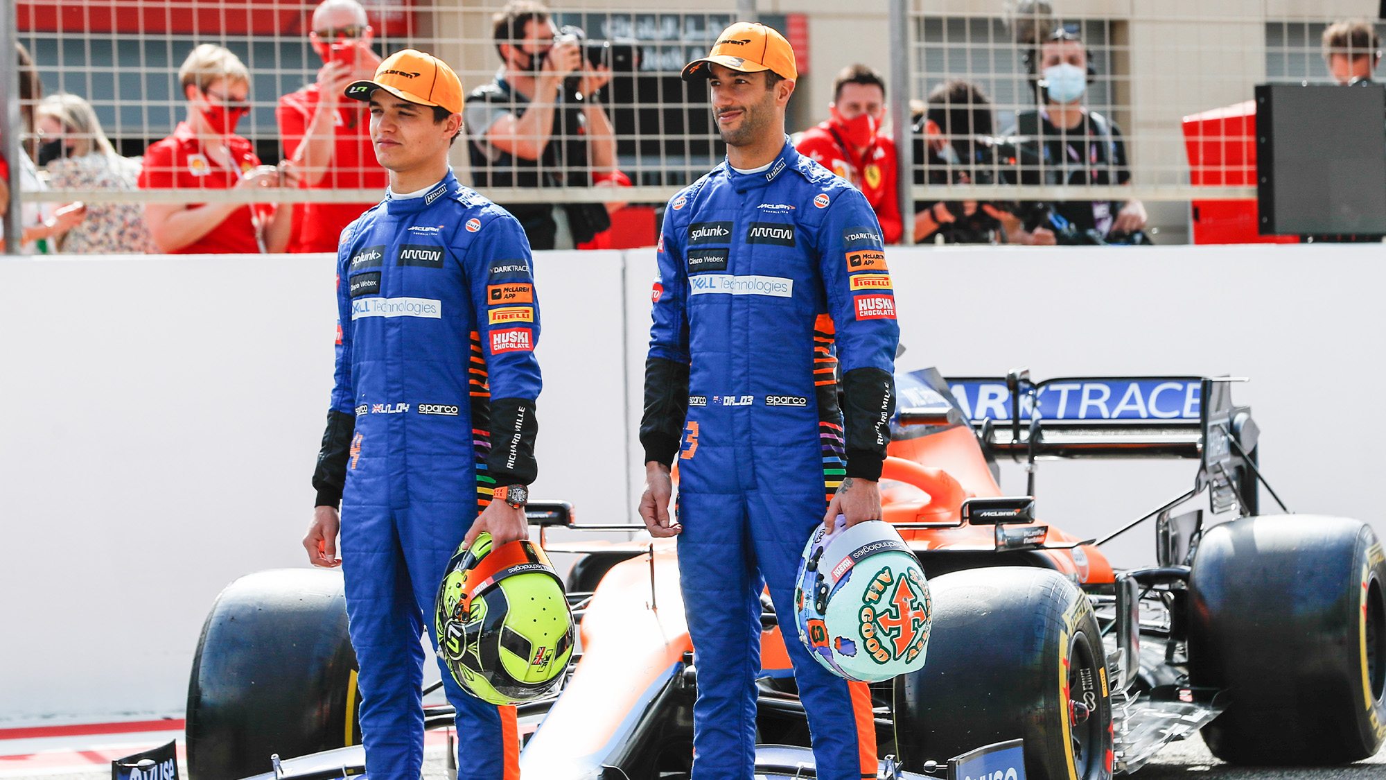 Lando Norris and Daniel ricciardo ahead of the 2021 F1 season