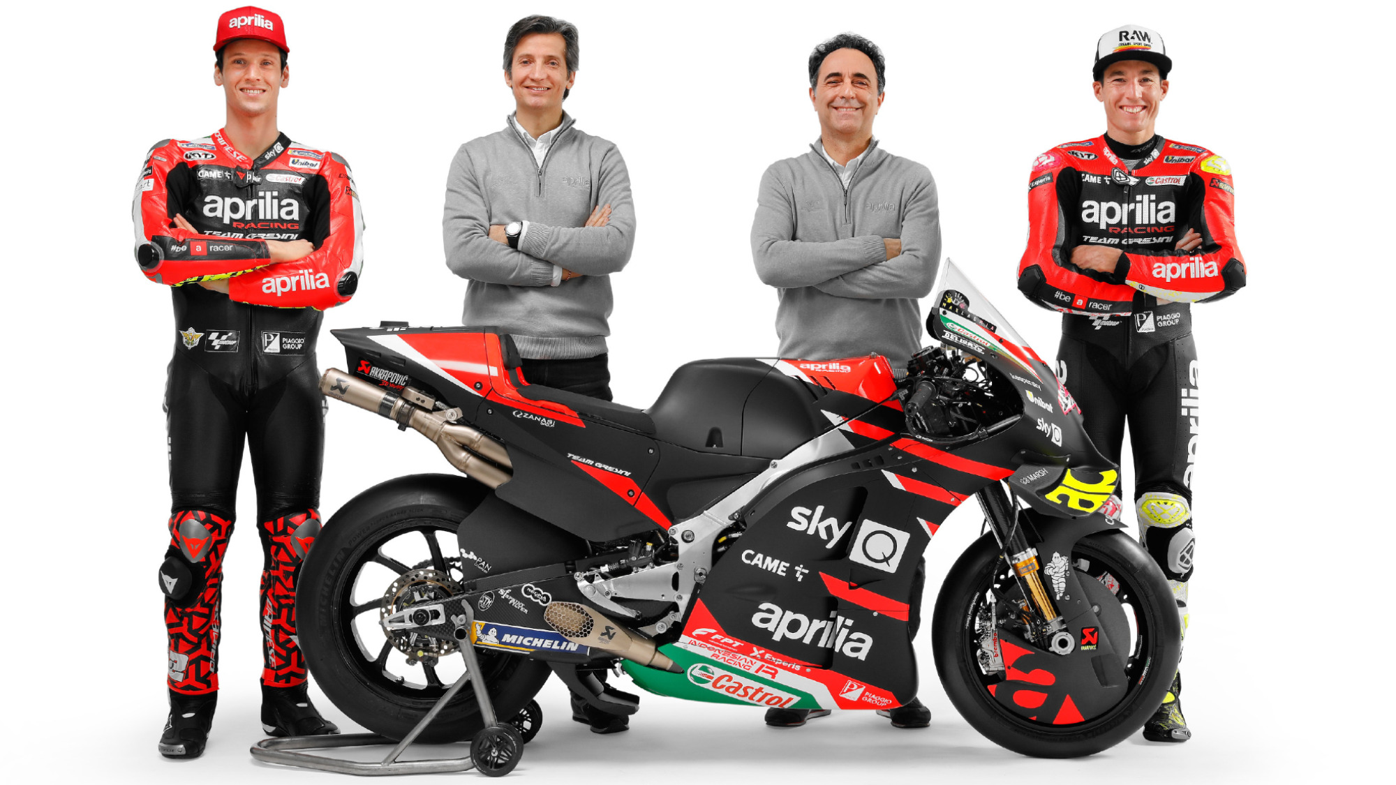 Aprilia 2021: Rivola and Albesiano with Savadori and Espargaro