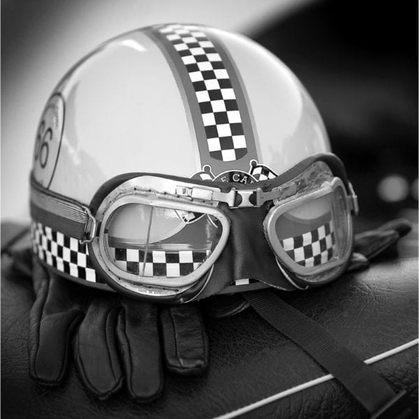 helmet lid white ace cafe