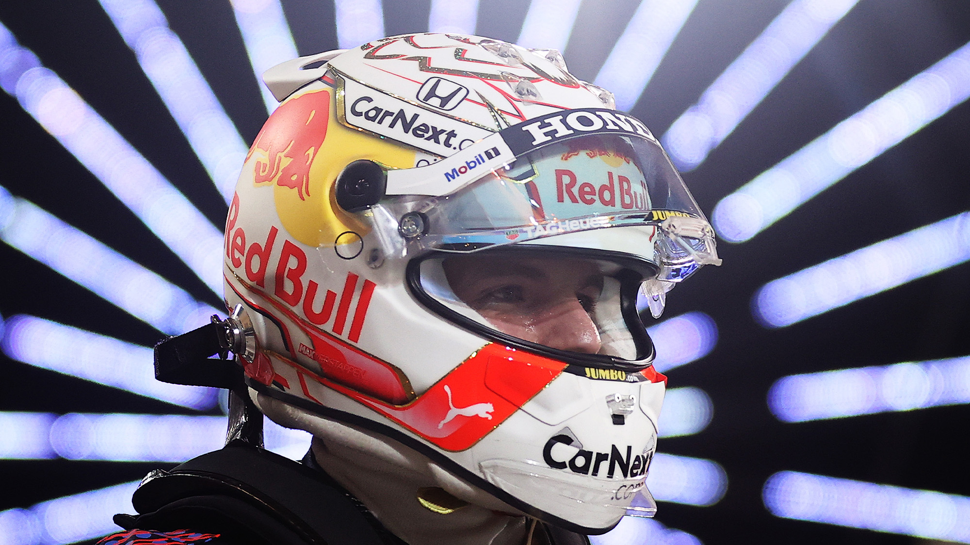 Max Verstappen after securing pole for the 2021 Bahrain Grand Prix