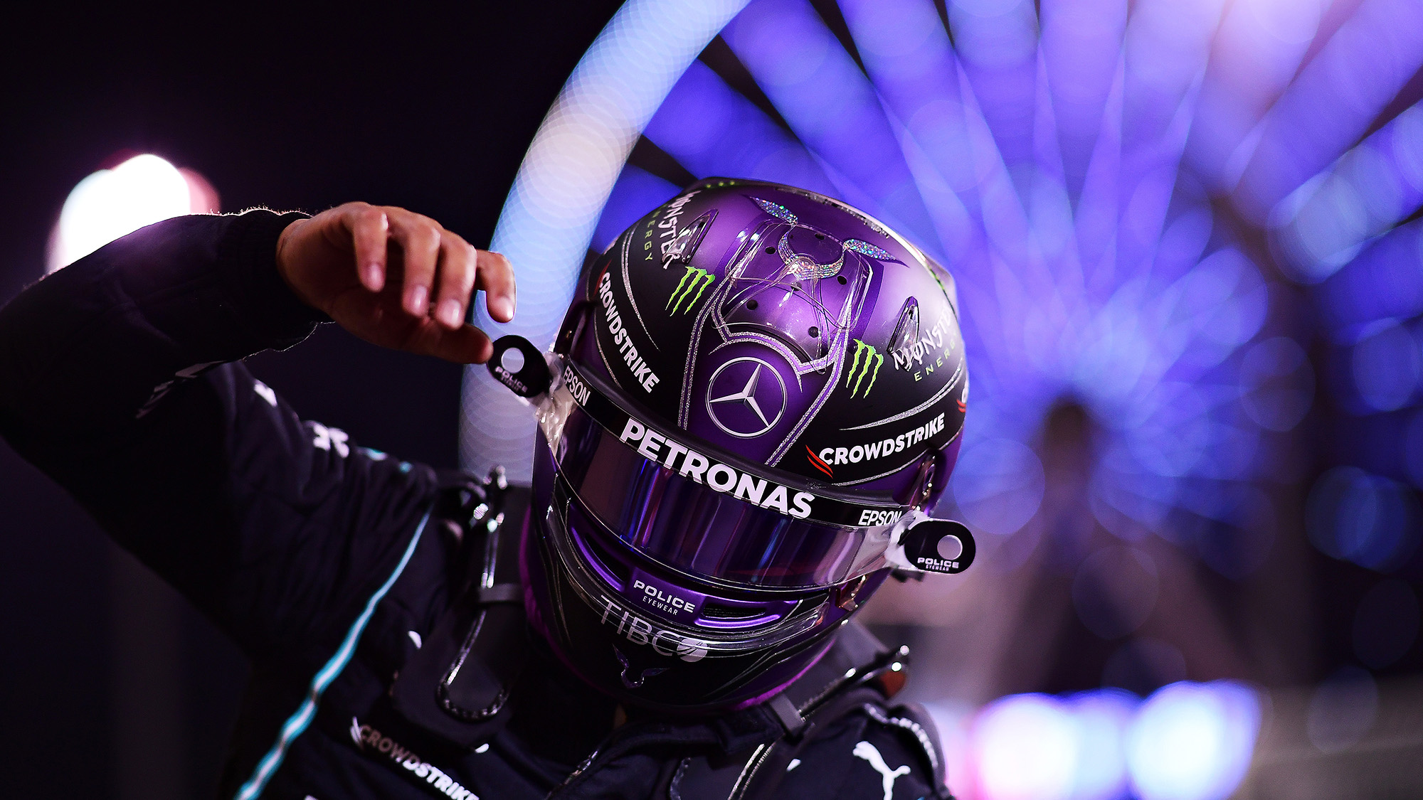 Lewis Hamilton after qualifying second for the 2021 Bahrain Grand Prix