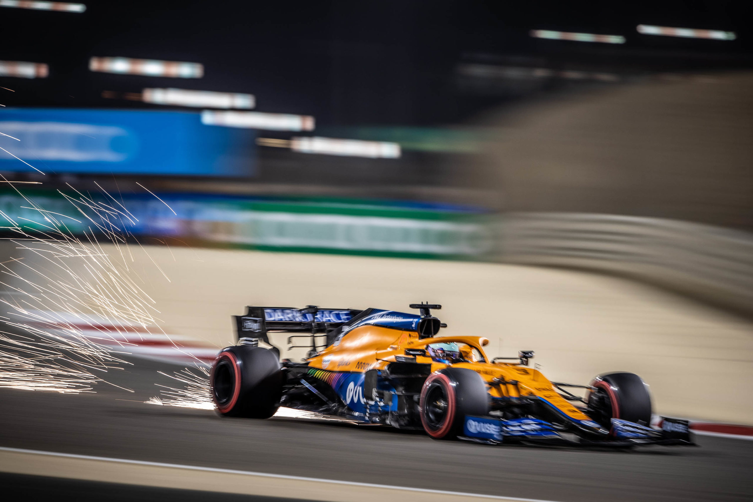 Daniel Ricciardo in qualifying for the 2021 Bahrain Grand Prix
