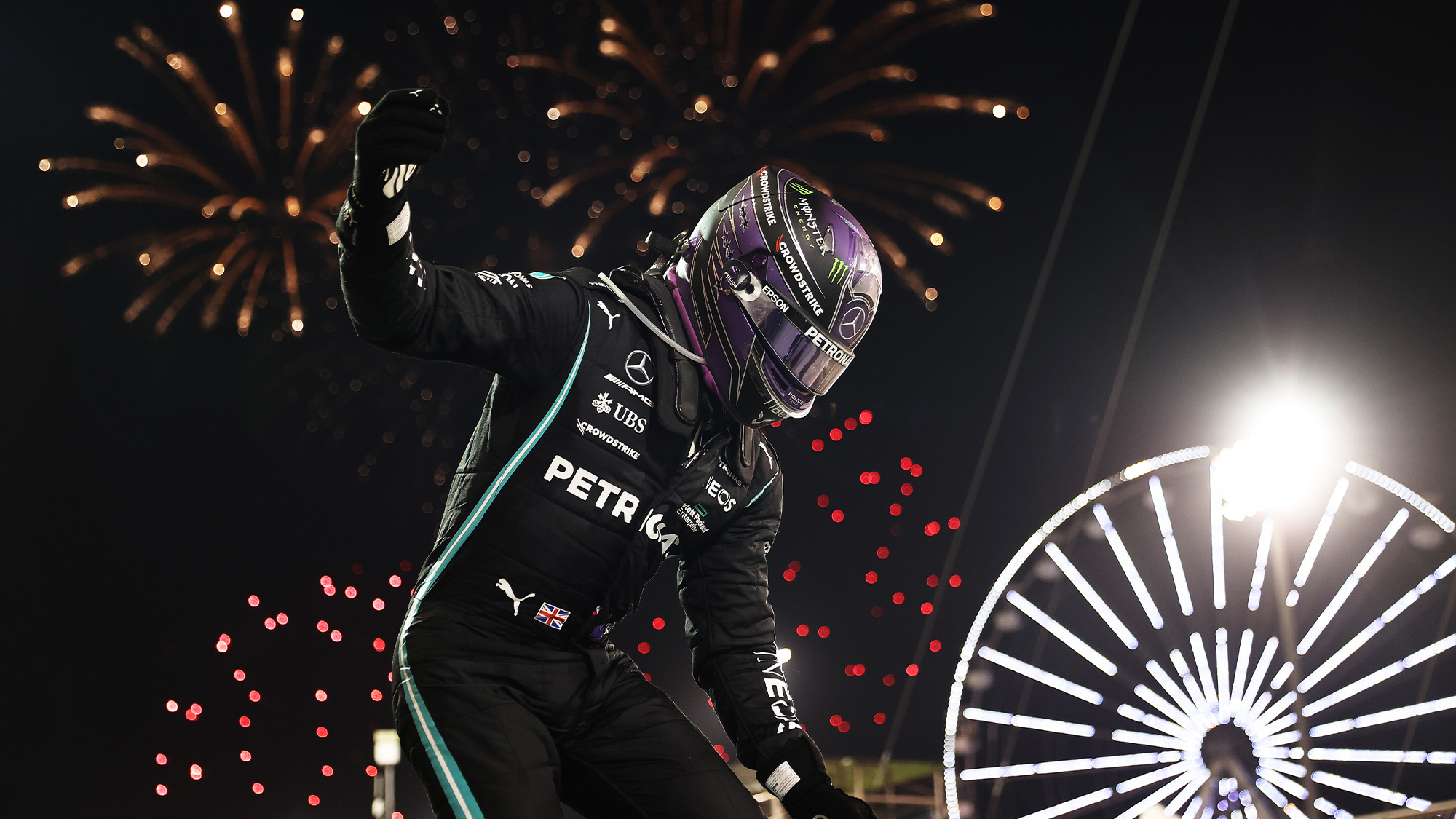 Lewis Hamilton celebrated victory in the 2021 Bahrain Grand Prix