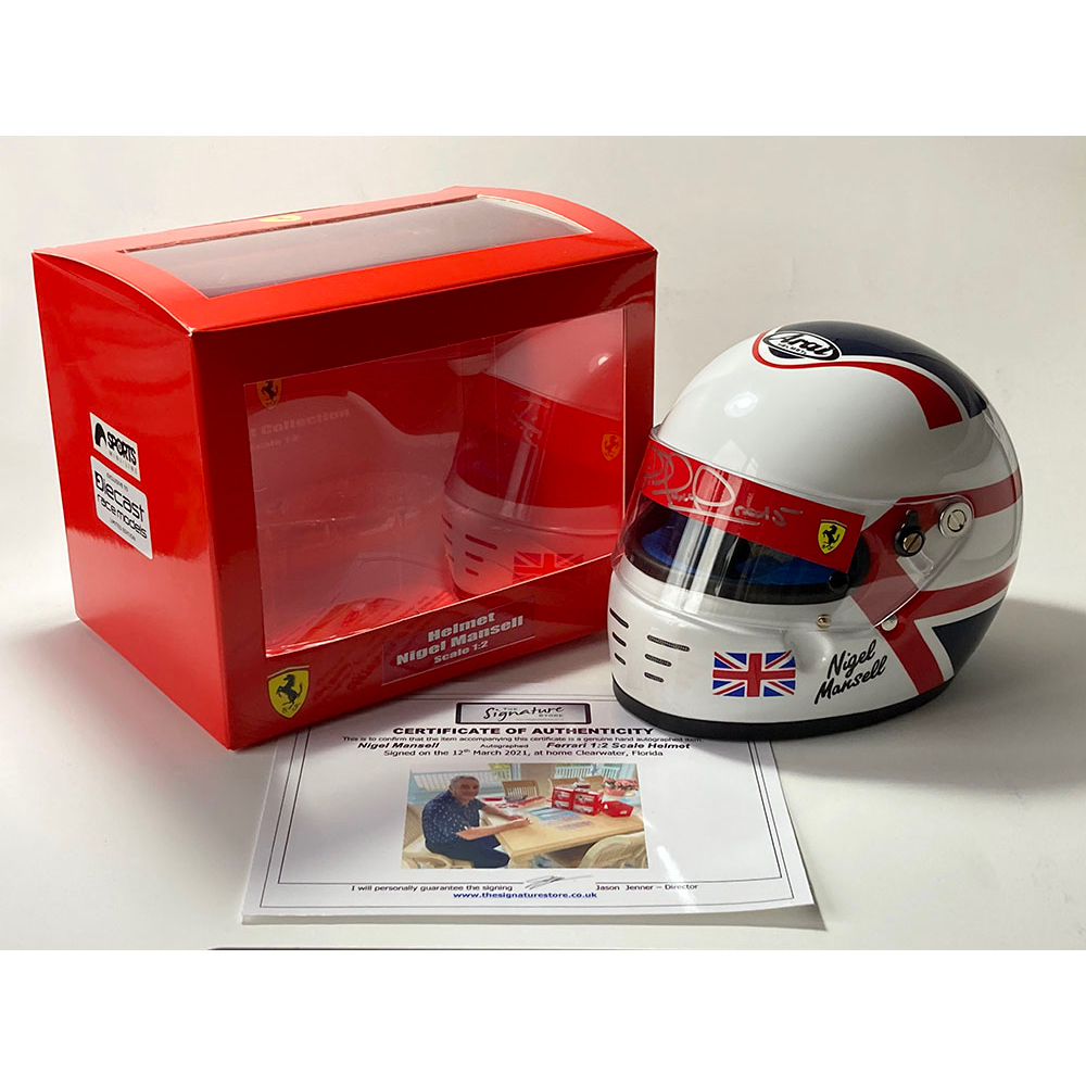 Product image for Nigel Mansell | Ferrari | 1/2 scale helmet | signed