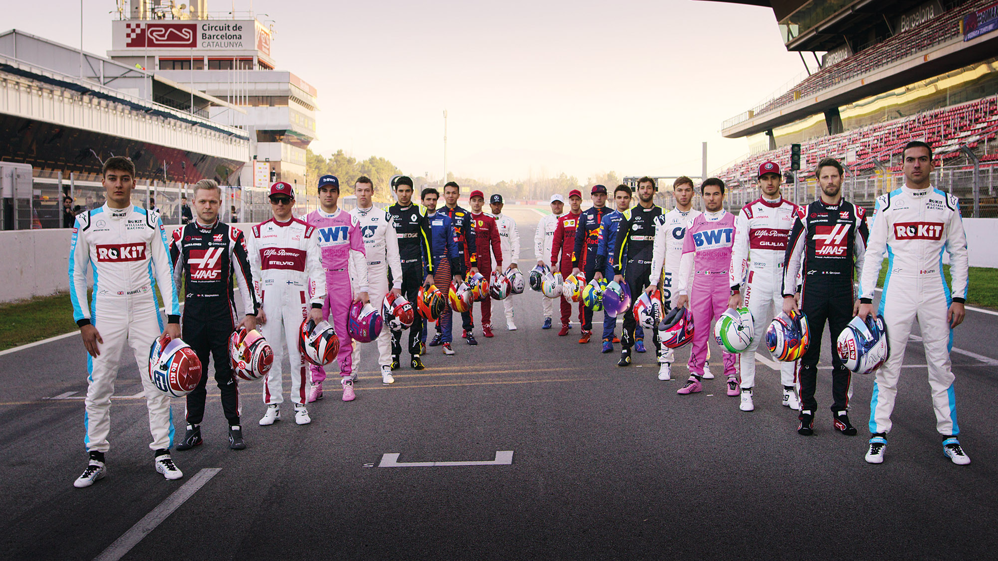 2020 F1 drivers from Drive to Survive