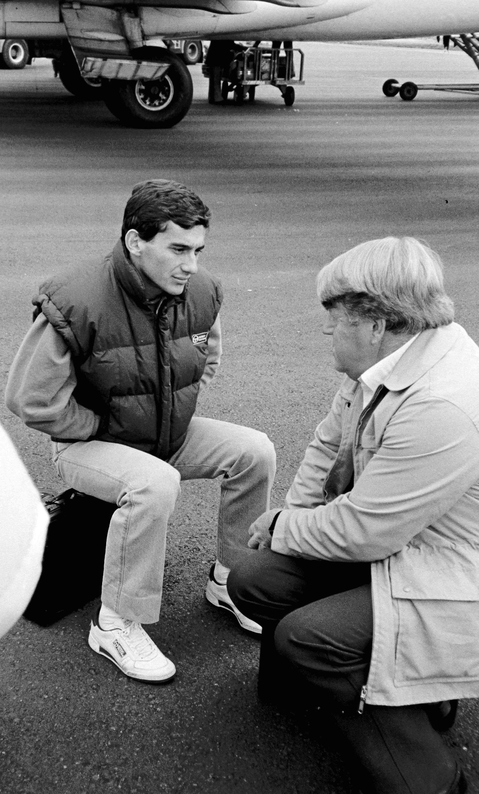 Ayrton Senna with Michael Tee