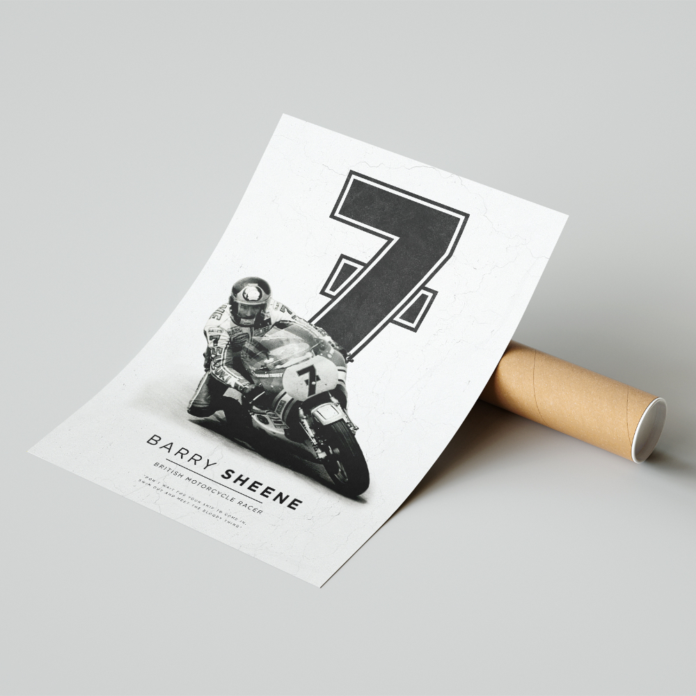 Product image for Barry Sheene | MotoGP | Pit Lane Prints | Art Print