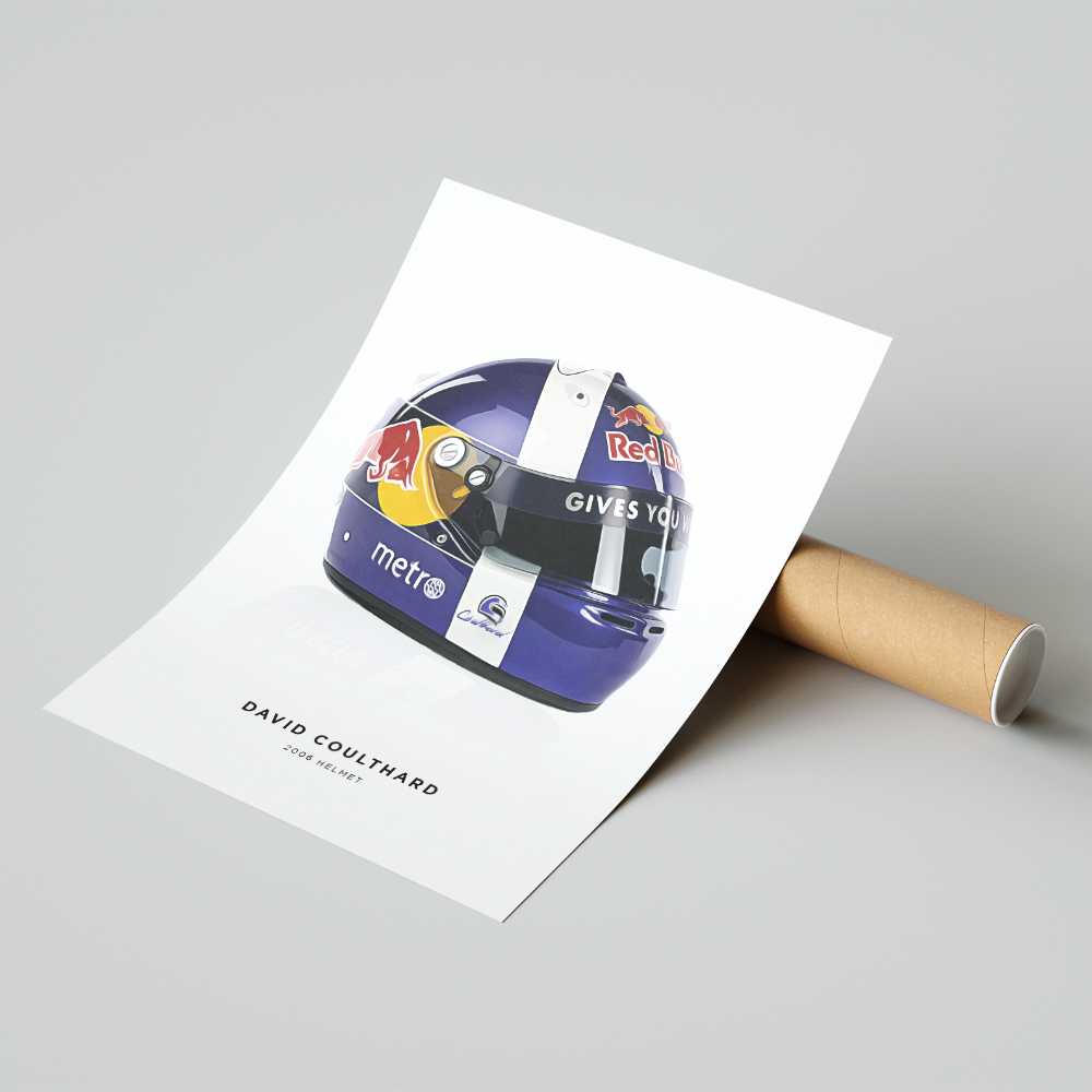 Product image for David Coulthard | 2006 Helmet | Pit Lane Prints | Art Print