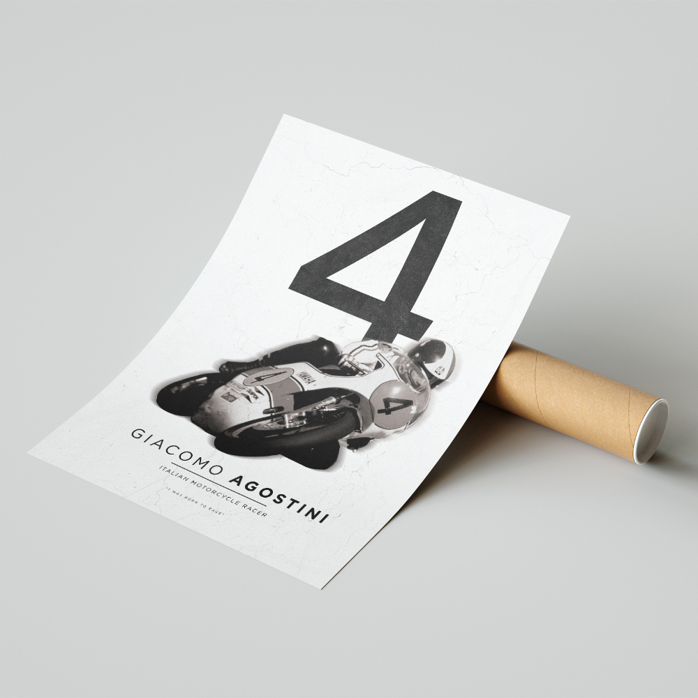 Product image for Giacomo Agostini| MotoGP | Pit Lane Prints | Art Print