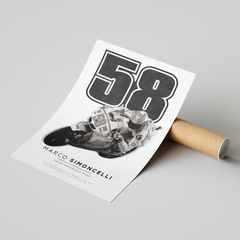 Product image for Marco Simoncelli | MotoGP | Pit Lane Prints | Art Print