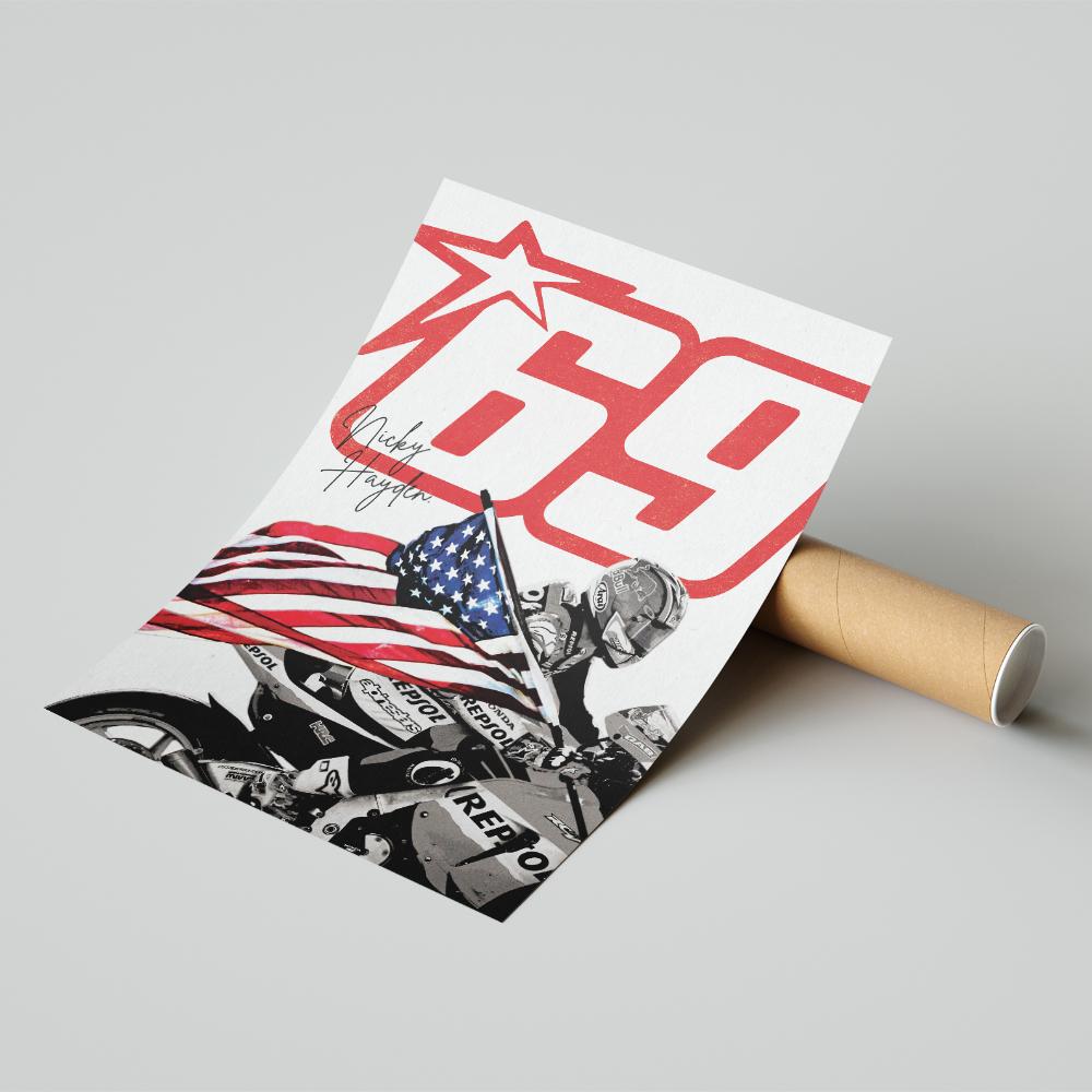 Product image for Nicky Hayden | MotoGP | Pit Lane Prints | Art Print