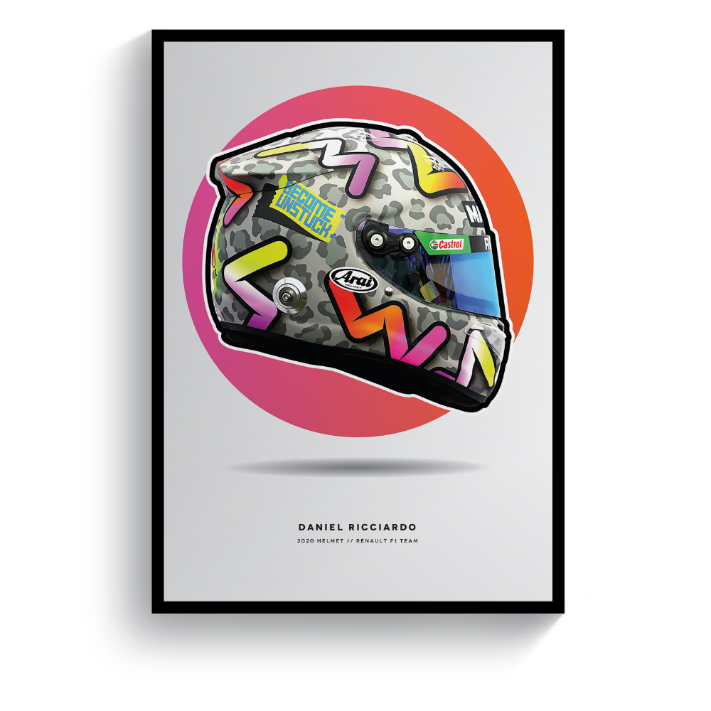 Product image for Daniel Ricciardo | 2020 Helmet | Pit Lane Prints | Art Print