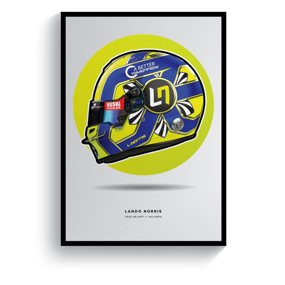 Product image for Lando Norris | 2020 Helmet | Pit Lane Prints | Art Print