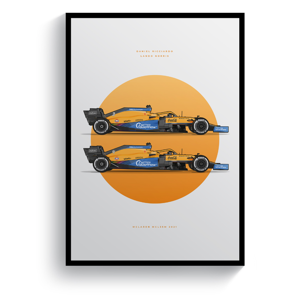 Product image for The McLaren MCL35M | Pit Lane Prints | Art Print