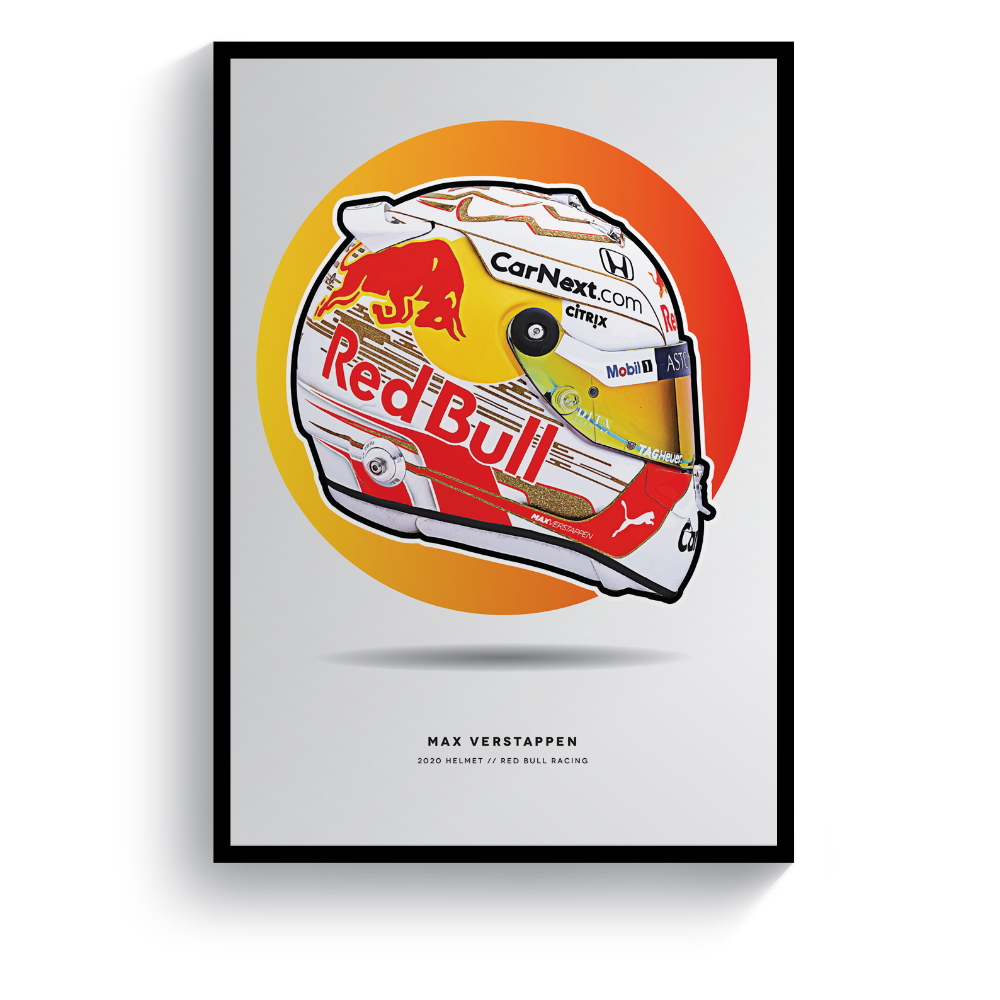 Product image for Max Verstappen | 2020 Helmet | Pit Lane Prints | Art Print