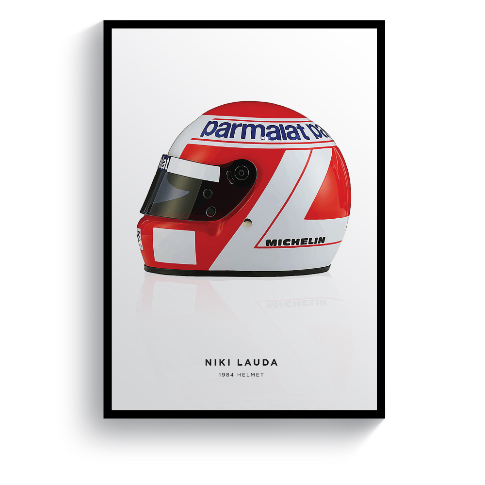 Product image for Niki Lauda | 1984 Helmet | Pit Lane Prints | Art Print