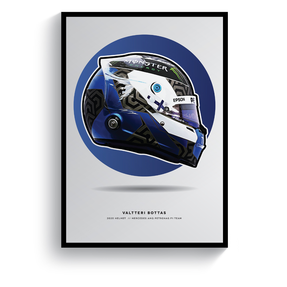 Product image for Valterri Bottas | 2020 Helmet | Pit Lane Prints | Art Print