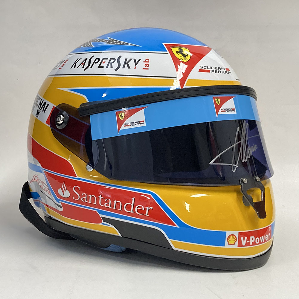 Product image for Fernando Alonso | full-size Ferrari display helmet | signed
