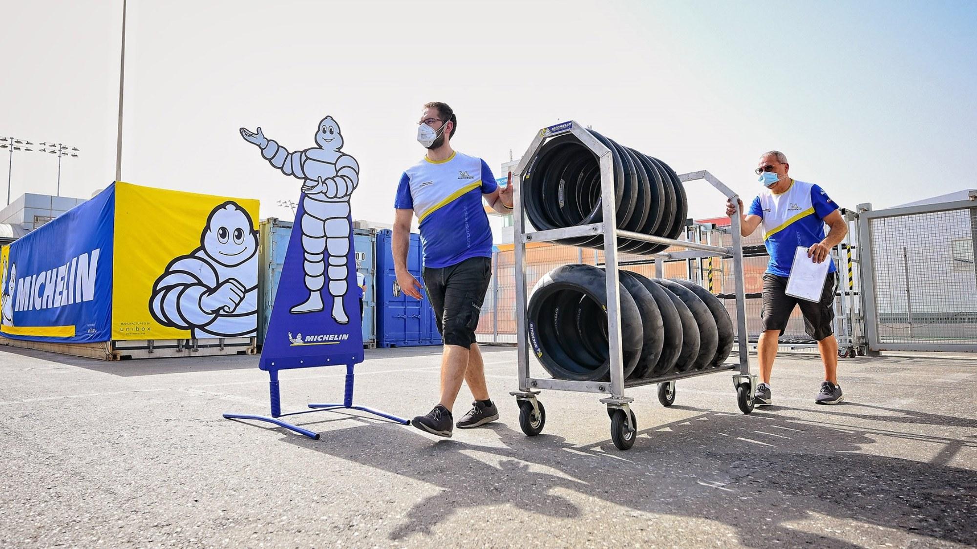 MotoGP Doha 2021 Michelin tyres