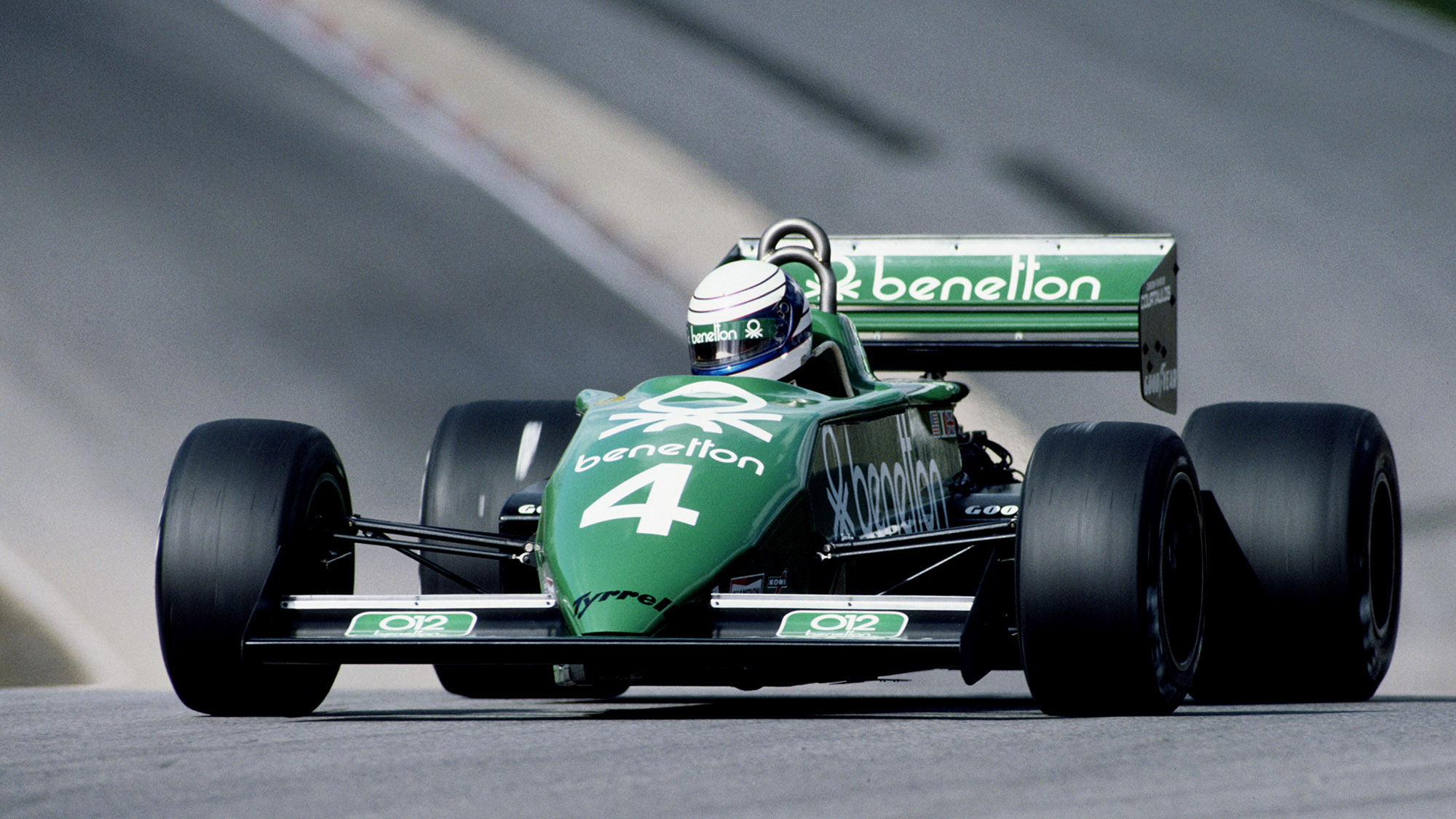 Tyrrell of Danny Sullivan at the 1983 Race of Champions