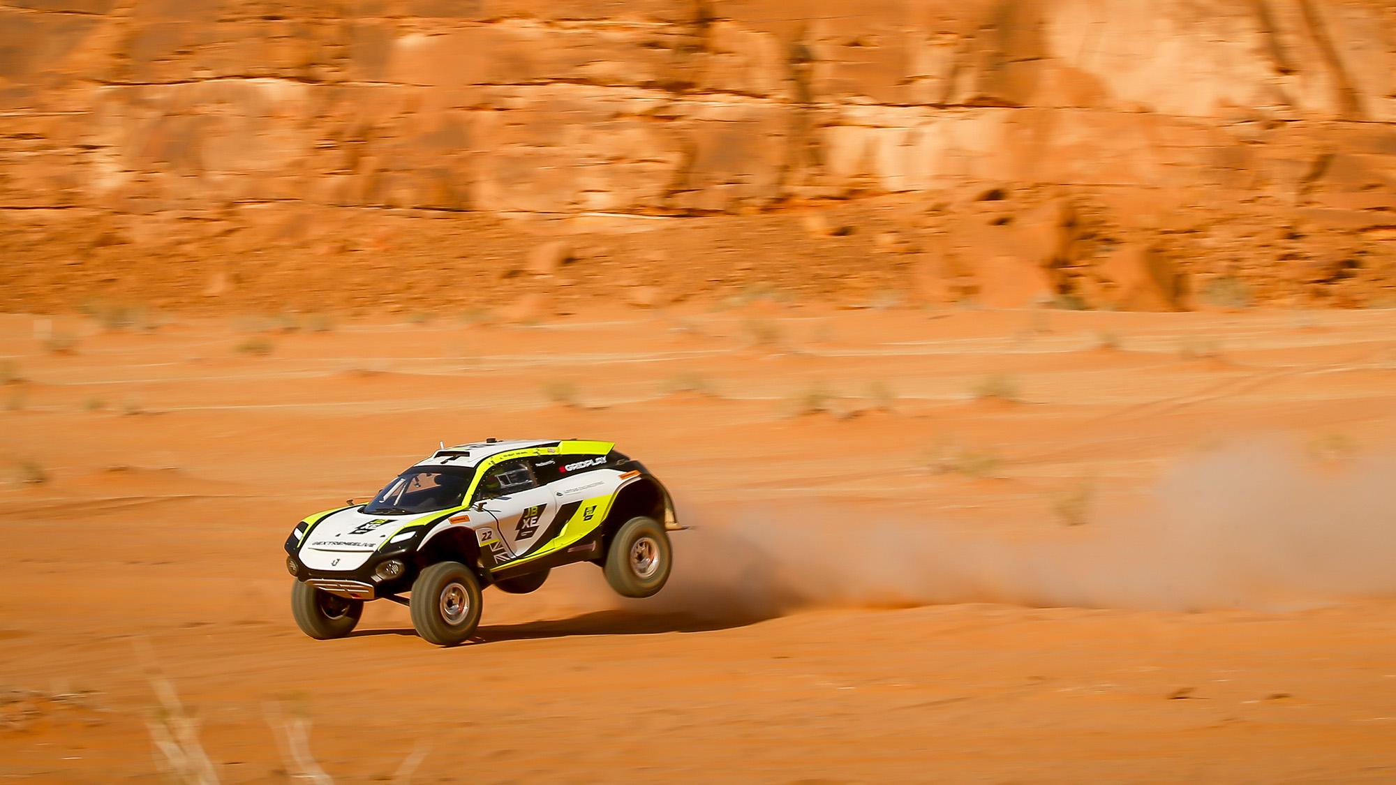 JBXE car during Saudi Arabia Extreme E event