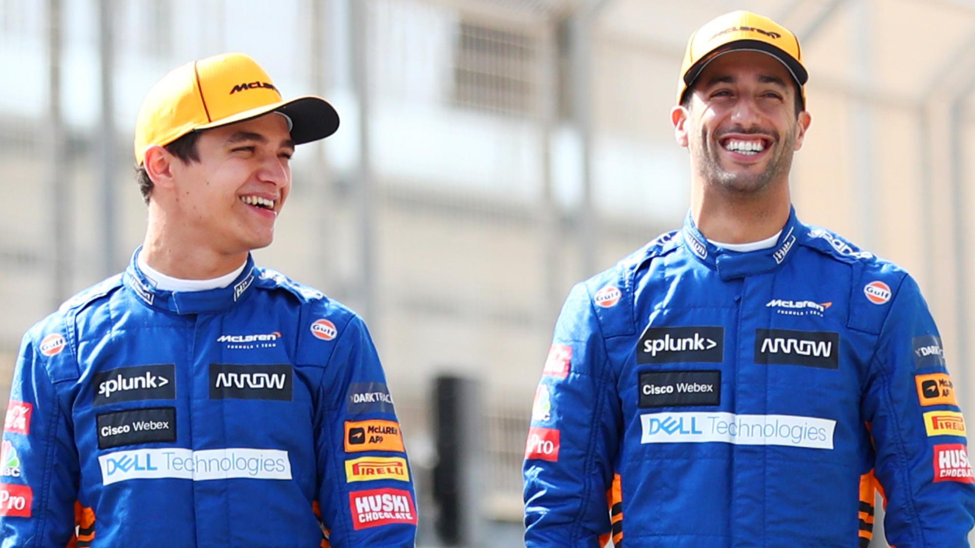 Lando Norris, Daniel Ricciardo, 2021 Bahrain GP