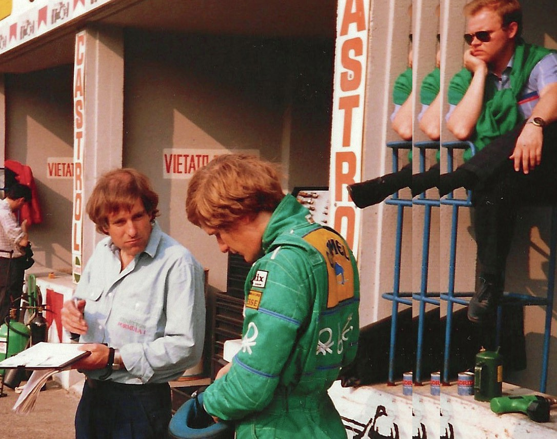 John Gentry with Thierry Boutsen in 1988