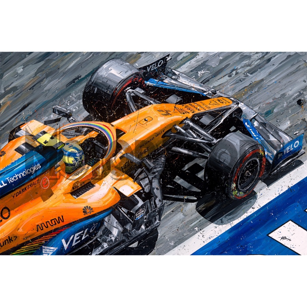Product image for Lando Norris McLaren 2020 | David Johnson | Limited Edition print