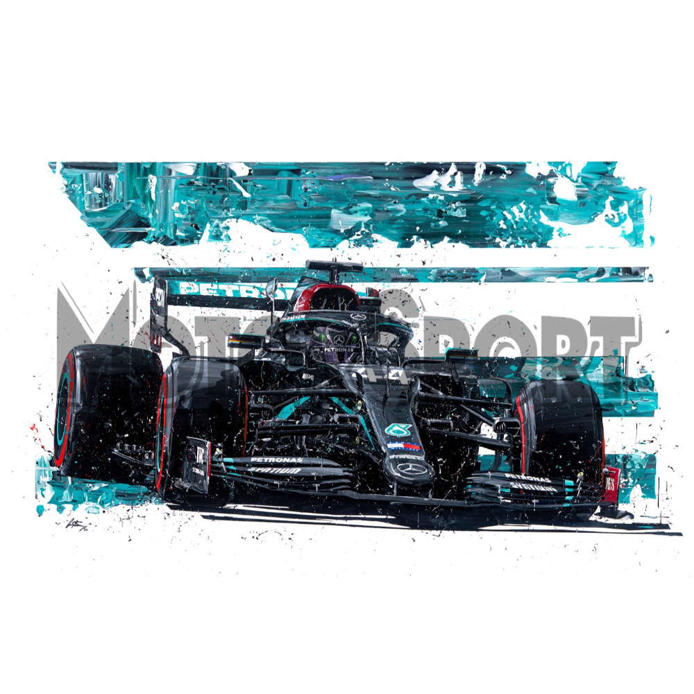 Product image for Lewis Hamilton Mercedes 2020 | David Johnson | Limited Edition print