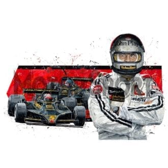 Product image for Mario Andretti hand signed Lotus 1978 | David Johnson | Limited Edition print