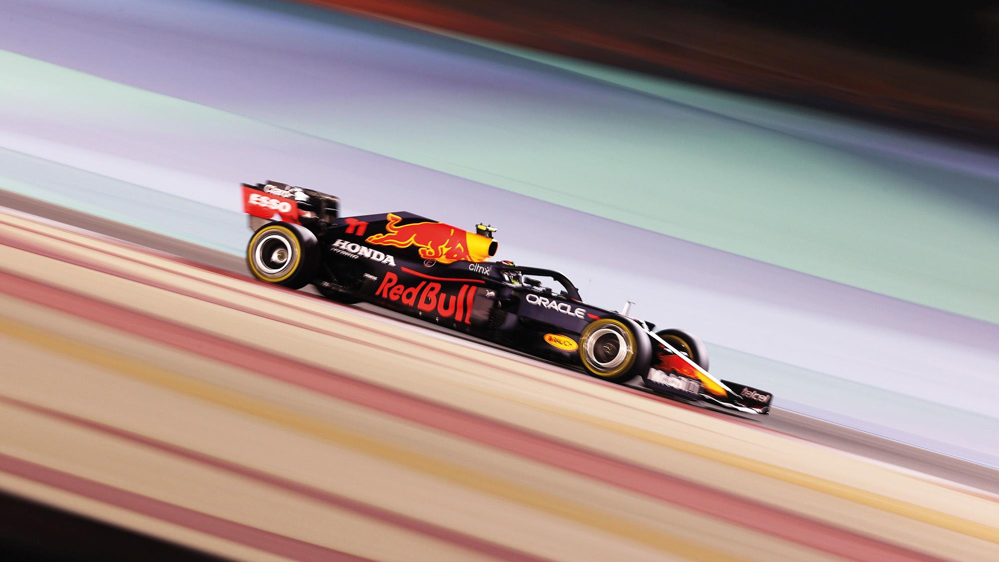 Red Bull of Sergio Perez at the 2021 Bahrain Grand Prix