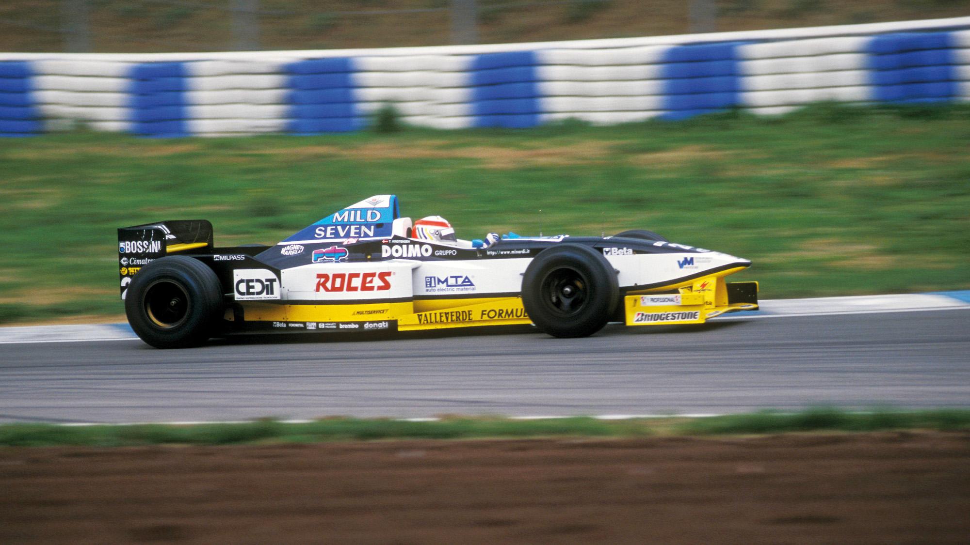 Tom Kristensen 1997 Minardi F1 test