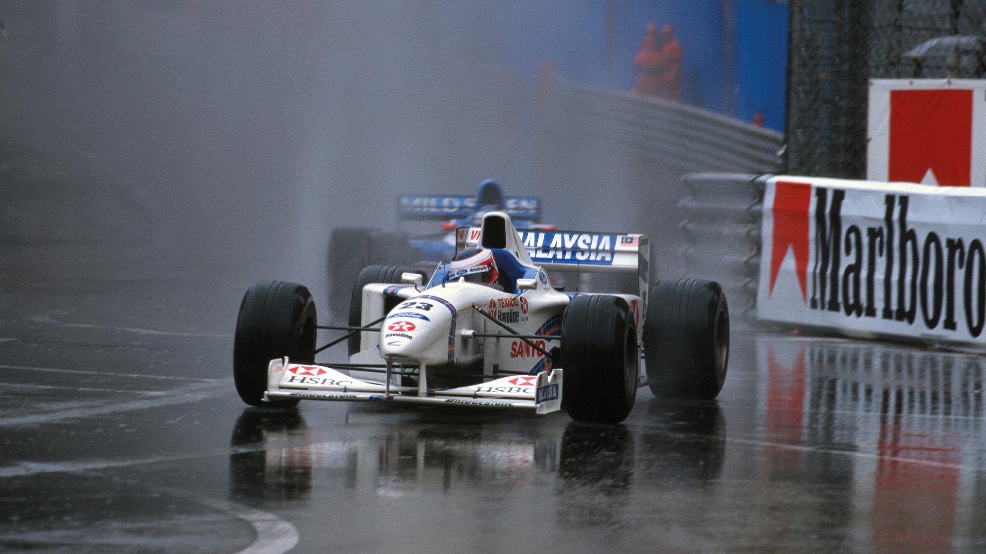 Jan Magnussen in the 1997 Monaco Grand Prix