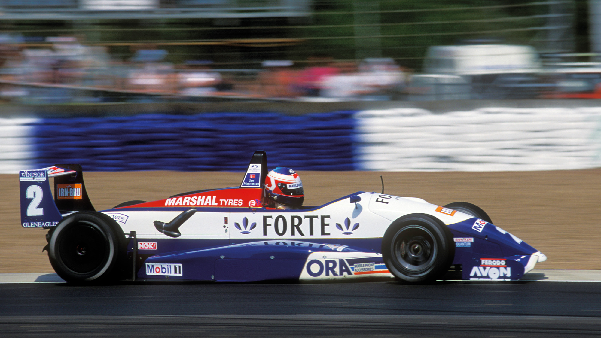 Jan Magnussen driving for Paul Stewart Racing in 1994